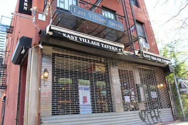 The East Village Tavern at 158 Avenue C was seized by a city marshall on Monday, Nov. 21.