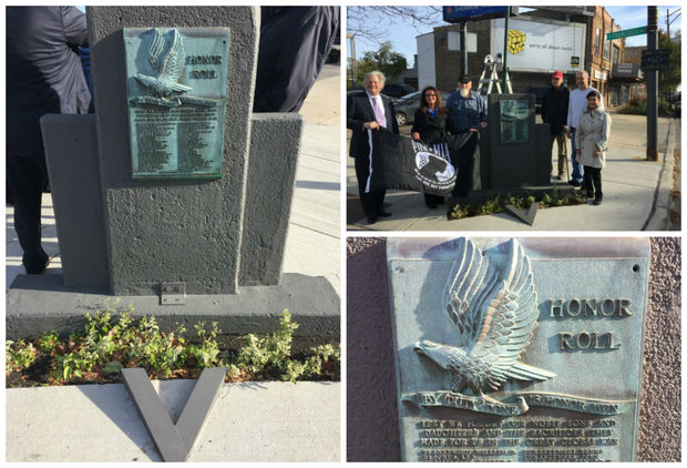 Locals unveiled the restored monument earlier this month.