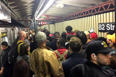 The stairway was much more damaged than they originally thought, officials said. The closure has created congested train platforms.