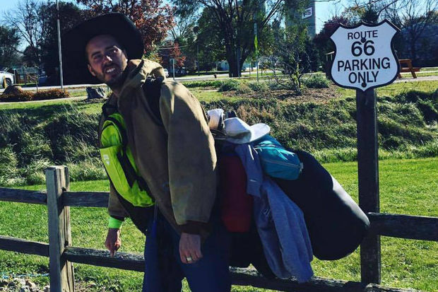 Kirk Sells is walking from Chicago to Compton, California to raise awareness for after school music education.