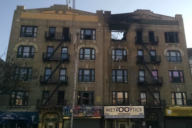 A fire tore through 1038 Southern Boulevard Sunday, officials said.
