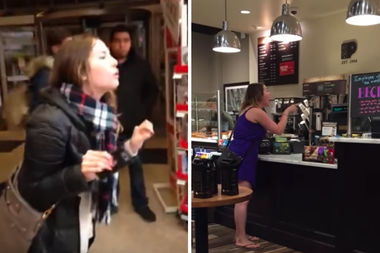 A woman caught on video ranting at Michaels employees also yelled at Peet's Coffee workers in Boystown over the summer.