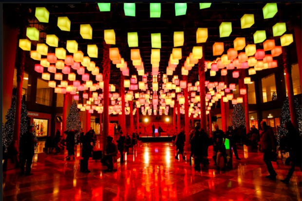 The Luminaries light installation will be on view through Jan. 29