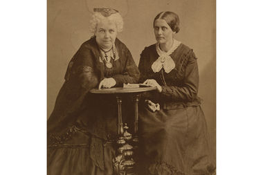 The monument will honor Elizabeth Cady Stanton and Susan B. Anthony, pictured here, but also reference the suffragette movement more broadly.