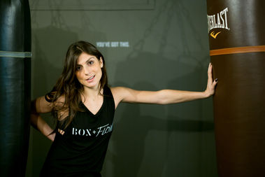 Founder Olivia Young, in her new NoHo gym, box + flow.