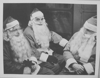 Three Subway Santas, New York City, c. 1950.