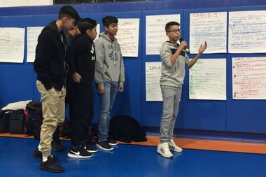 Ricardo Robles, 14, who made a presentation with four other local Uptown kids, said he and his friends would like to have a soccer field in Highbridge Park.