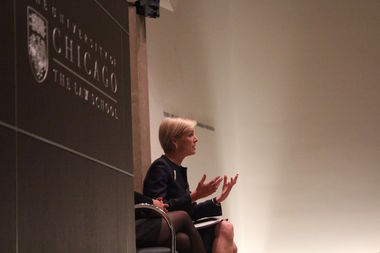 While at U. of C., Cecile Richards predicted there would be brutal fights with the Trump administration over women's health care.