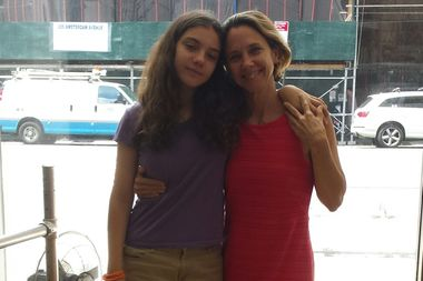 Deirdre Cipolla, pictured here with her 13-year-old daughter, Lila, said selecting a college-ready high school is