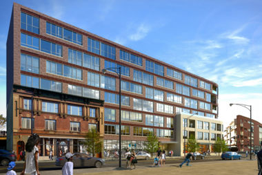 The latest rendering of the project at 1980 N. Milwaukee Ave.