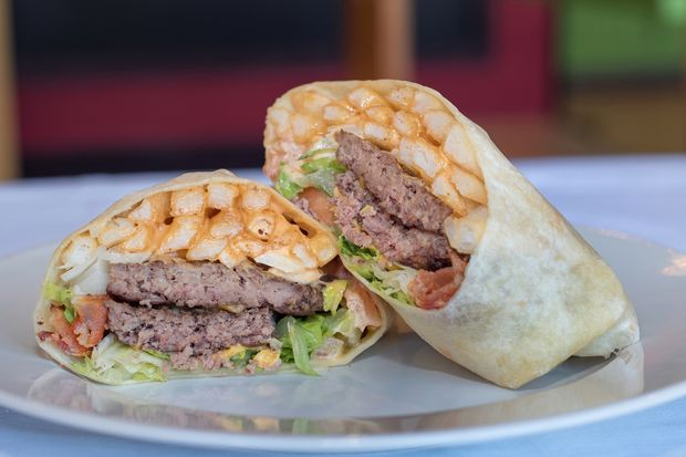 The Burgrito is the star attraction on the menu at Burgrito's, a Long Island restaurant that serves burgers and Mexican food. It's opening on the border of Park Slope and Gowanus early in 2017.