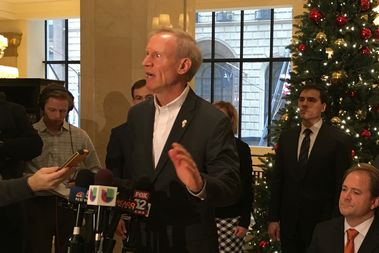 Illinois Gov. Bruce Rauner Friday urged Mayor Rahm Emanuel to