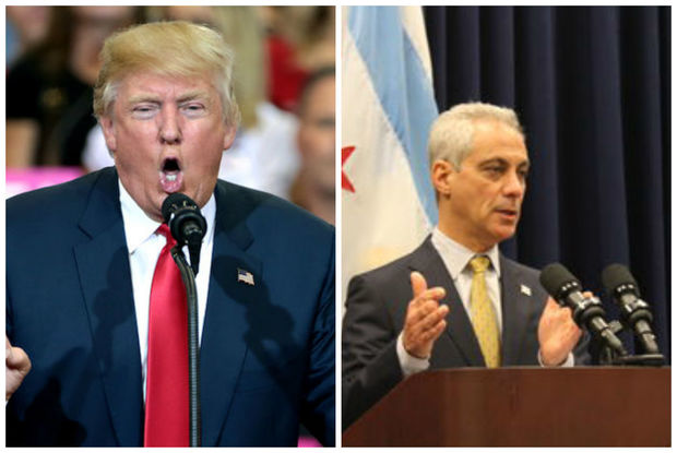 President Donald Trump and Mayor Rahm Emanuel have different ideas about how to stop Chicago's violence.
