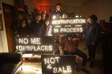 Anti-gentrification holiday lights will illuminate gentrifying neighborhoods all over the city this year, organizers said.