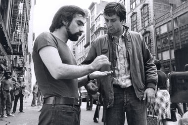 Martin Scorsese and Robert De Niro on the set of his 1976 film