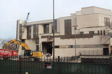 Demolition of the structures at the corner of Montrose and Clarendon Avenue began earlier this week.