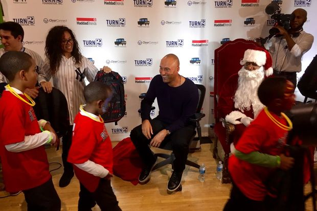 The former New York Yankees captain paid a surprise visit to a Rego Park Community Center.
