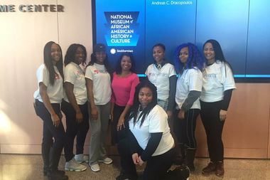 Jamila Trimuel, center, and trip sponsor Ebony Jones, took a group of Ladies of Virtue teens to Washington, D.C. Dec. 4-5.