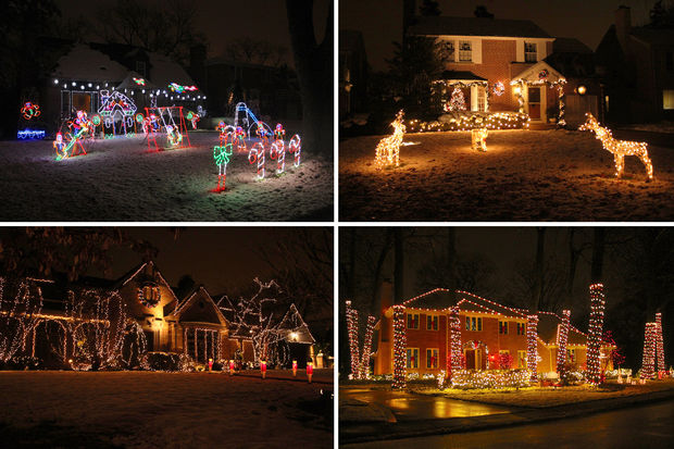 Sauganash homes are known for going all out on Christmas decorations.