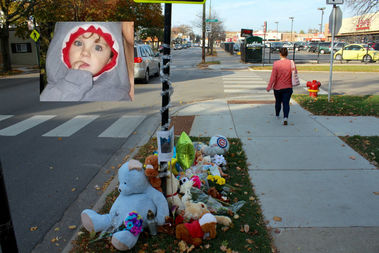 Noah Katz, 2, died after being struck by a van in the 4700 block of North Central Avenue Sunday.