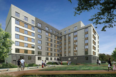 One hundred affordable apartments are available in a new environmentally-friendly apartment building.