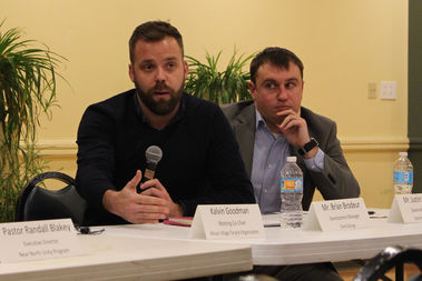 The Onni Group's Brian Brodeur and Justin Girard pledged to meet regularly directly with residents.