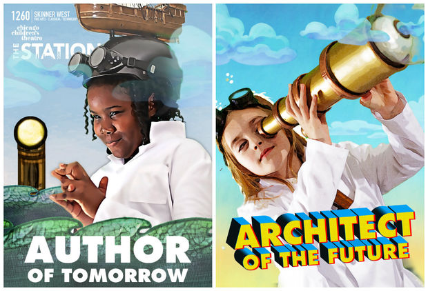 Skinner West fifth grader London Freeman and third grader Sadie Wood are featured in Chicago Children's Theatre's Photos of the Future series.