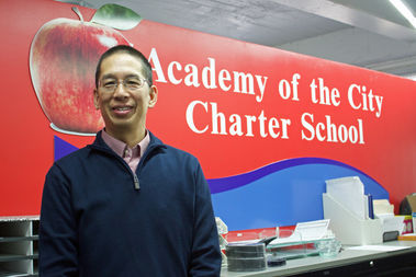 Richard Lee, 53, has been the head of Academy of the City Charter School in Woodside since its founding in 2011.