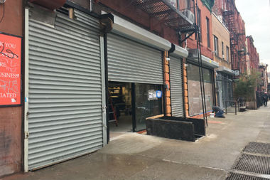 Three armed robbers twice hit a bodega that's under construction at 376 Lafayette Ave., police and the owner said.