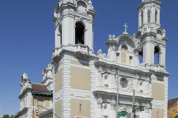 St. Barbara's Roman Catholic Church at 138 Bleecker St., is one of the earliest churches to be built in the northeast in Spanish Colonial Revival style and is one of Bushwick's most striking structures.