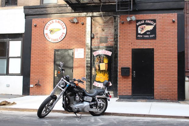 The Hells Angels clubhouse at 77 E. Third St.