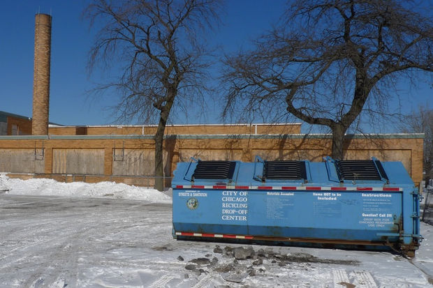 The Department of Streets and Sanitation is phasing out recycling centers like this one at the former Crispus Attucks Elementary on the South Side.