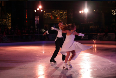 Melissa Gregory and Dennis Petkhov,, ice dance at The Rink in 2015.