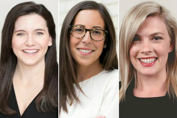 Chicago's Kate Le Furgy (from left), Anne Szkatulski and Sarah Cottrell are the three founders of Rodham Consulting.