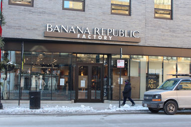 The new Banana Republic Factory Store opens Thursday at 2720 N. Clark St.
