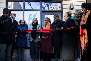 Church leaders, Manhattan BP Gale Brewer, First Lady Chirlane McCray and others cut the ribbon at the new center Thursday.