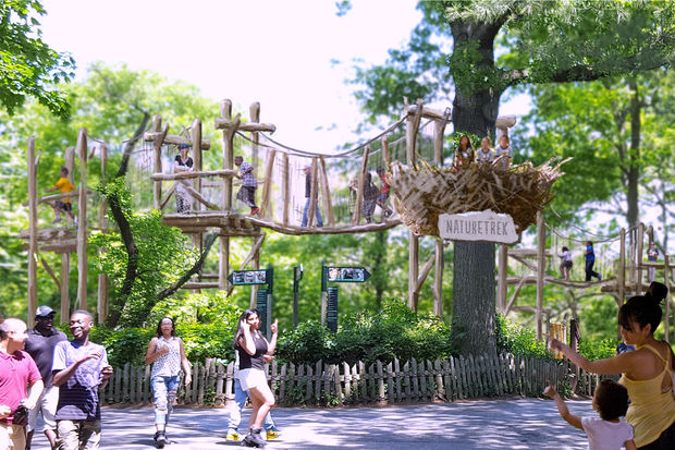 The Bronx Zoo said it plans to build a kid-friendly, netted adventure course called the Nature Trek.
