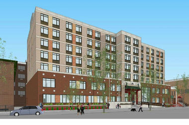 The 17,556-square-foot development would include 92 housing units, a community center and parking.