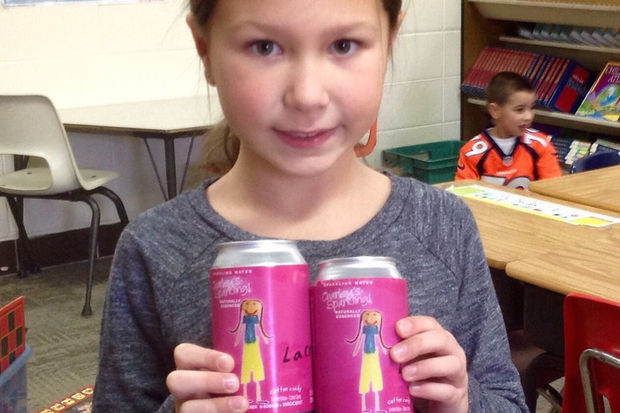 LaCroix came through on the cotton-candy-flavored seltzer imagined by Darien second-grader Charley Ballard, including the pink packaging.