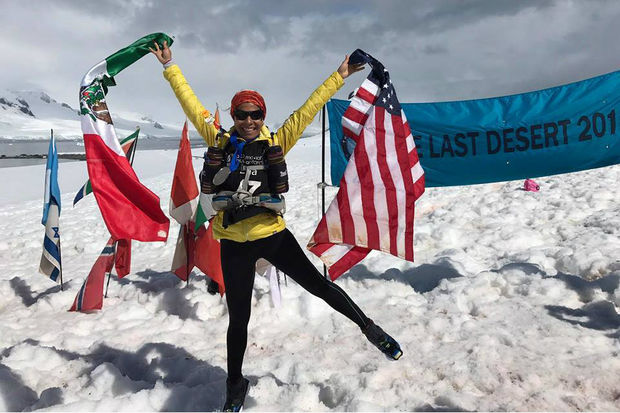 Chicago's Edna Vazquez recently became the first Mexican-American woman to complete the 4 Deserts challenge, finishing four lengthy races in four deserts across the world. The last of the four races came in Antarctica.