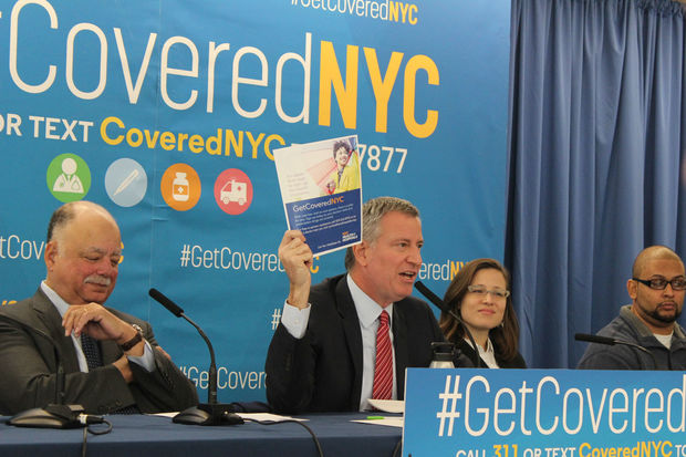 Mayor Bill de Blasio has a plan to fight President-elect Donald Trump''s promise to repeal Obamacare —Enroll as many as 50,000 New Yorkers in the plan over the next 12 months.
