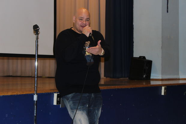 Fat Joe returned to his old elementary school in the South Bronx on Tuesday to donate 20 computers.