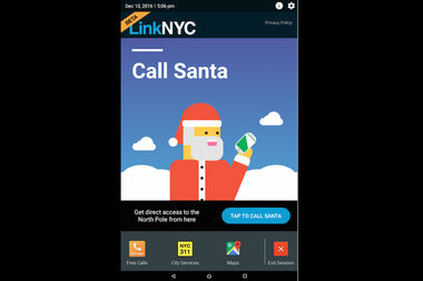Kids can now reach Santa through any LinkNYC kiosk in the five boroughs.
