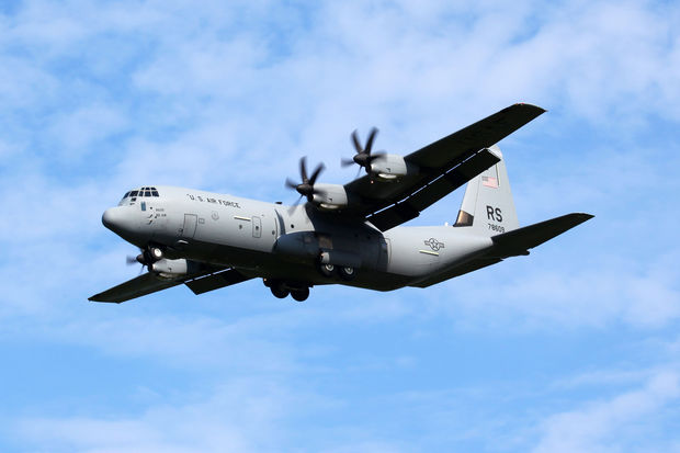 A C-130 airplane and two helicopters were seen circling Midtown last week.