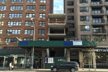 Construction at 133 Third Ave. has been frozen since 2012, when a contractor sent cement pouring through the wall of the NYU dorm next door.
