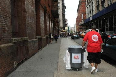 ACE employs homeless men and women to clean New York City streets.