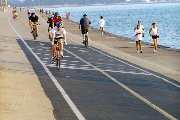 Bicyclists and runners already have separate paths from Fullerton Avenue to Ohio Street, but construction will enhance the separation this summer.