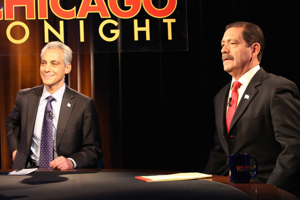 Rahm Emanuel and Chuy Garcia