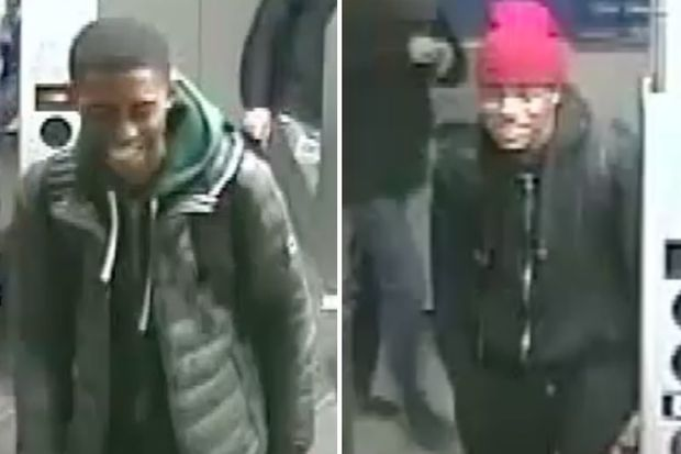 Police are looking for these two suspects in the robbery of a 12-year-old's cellphone on Nov. 23 at the Q train Seventh Avenue subway station.