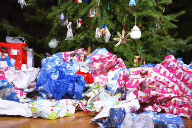 When it comes to gift wrap — paper, ribbons and bows — the green solution is to reuse.